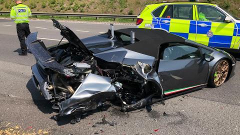 Accidente de Lamborghini