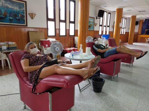 Sala de donación de sangre, Gáldar. Gran Canaria