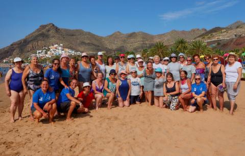 Deporte para mayores. Las Teresitas. Santa Cruz de Tenerife