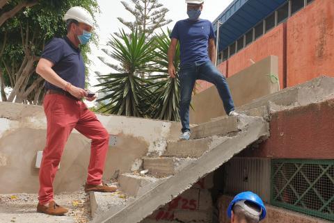 Eloy Santana visita las obras del Mercado Municipal de Telde. Gran Canaria