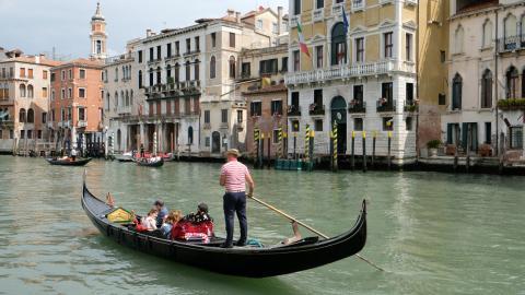 Góndola en Venecia. Italia