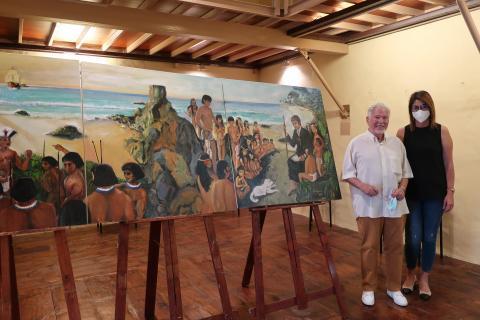Donación del mural del Padre Anchieta. La Laguna
