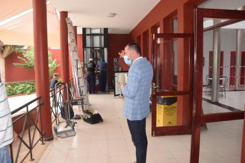 Teodoro Sosa en el Club del Mayor de Gáldar. Gran Canaria