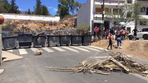 Barricadas en Tunte. San Bartolomé de Tirajana. Gran Canaria.