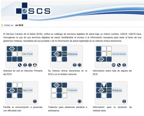 Captura de pantalla de miSCS