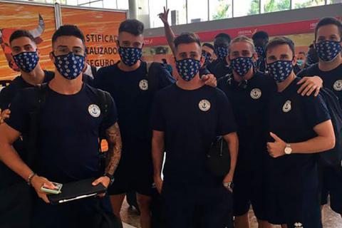 Jugadores del C.D. Marino. Fútbol. Tenerife