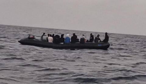 Cayuco. Inmigrantes