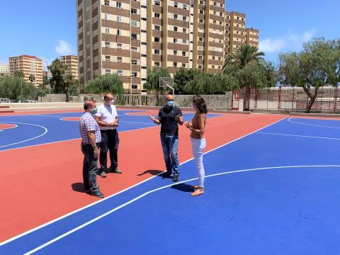 Renovación de las pistas polideportivas de Cruz de Piedra. Las Palmas de Gran Canaria