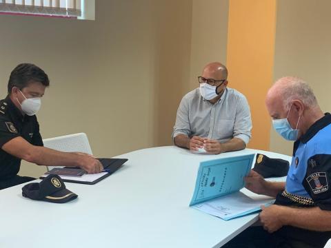 Reunión de seguridad para coordinar medidas anti covid. Telde