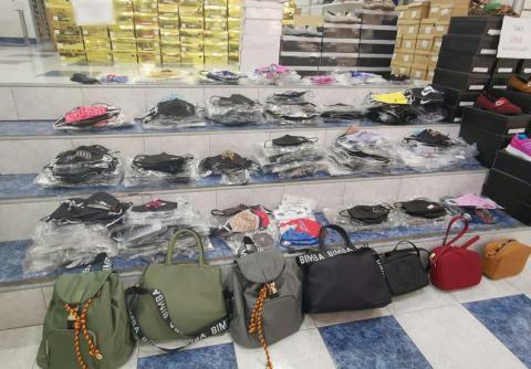 Mascarillas falsas decomisadas por la Policía Local de Santa Cruz de Tenerife