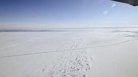 Plataforma de hielo del glaciar Pine Island en la Antártida