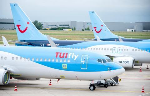 Aviones del touroperador TUI