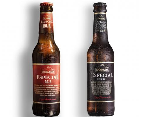 Botellas de cervezas Doradas