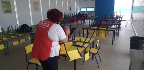 Servicio de comedor del CEIP Almácigo, Guía de Isora. Tenerife