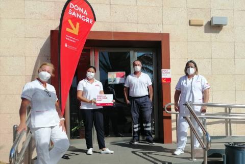 Equipo de donación de sangre del ICHH. Canarias
