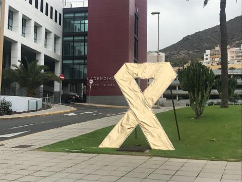 Imagen de lazo en el Hospital Universitario Materno Infantil de Canarias. Gran Canaria