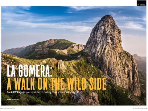 Portada de la revista inglesa 'Active Traveller' invita a pasar las vacaciones de invierno en La Gomera