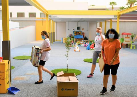 Puesta a punto de la Escuela Infantil de Arguineguín, Mogán. Gran Canaria