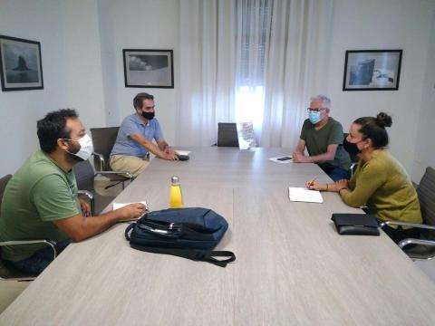 Reunión de Sí Podemos Canarias en el Cabildo de Tenerife con Unidas Se Puede El Sauzal
