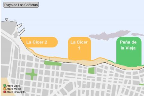 Las Palmas de Gran Canaria estrena un semáforo online para informar sobre el nivel de aforo en las playas