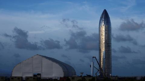 Prototipo de la nave espacial Starship de SpaceX. EEUU