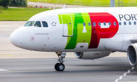 Avión de la aerolínea TAP