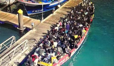 Inmigrantes en patera. Sur de Tenerife