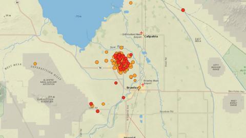 Enjambre de más de 240 terremotos en California. EEUU
