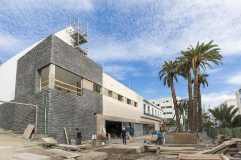 Obras del nuevo HiperDino en Las Palmas de Gran Canaria