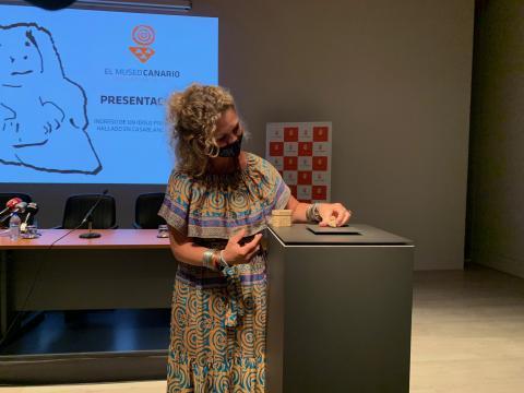 Un nuevo ídolo hallado en Firgas se suma a las colecciones de El Museo Canario