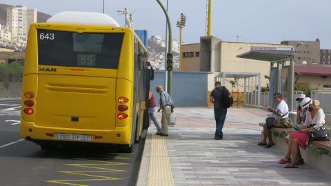 Viajero de Guaguas Municipales. Las Palmas de Gran Canaria