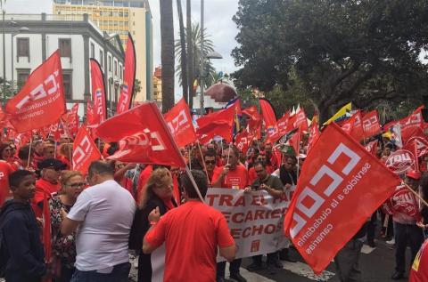 Movilizaciones de trabajadores de CCOO