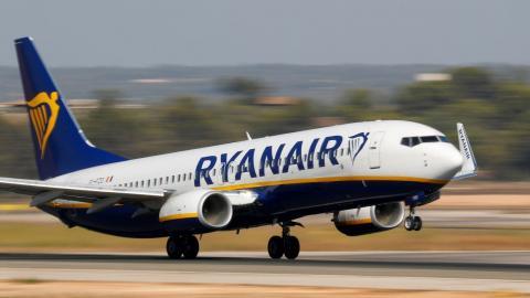 Avión de la aerolínea Ryanair
