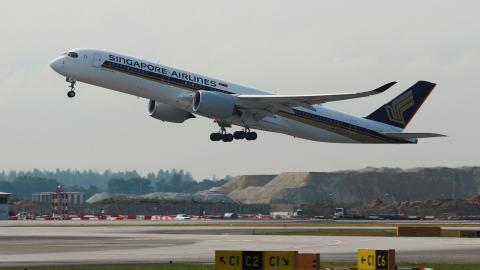 Avión de Singapore Airlines