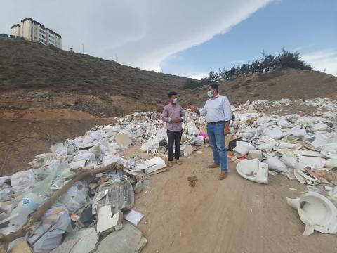 Vertedero de escombros en Las Palmas de Gran Canaria