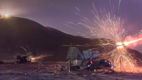 Ejercicio de artillería antiaérea / CanariasNoticias.es
