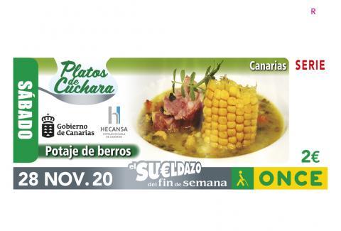Cupón de potaje de berros de la ONCE / CanariasNoticias.es