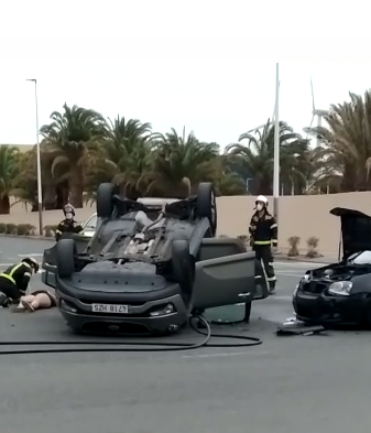 Accidente en Arinaga. Gran Canaria