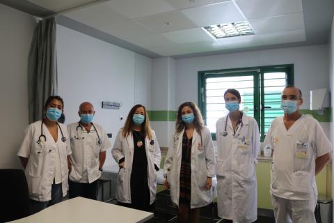 Equipo de Medicina Interna del Hospital de Lanzarote