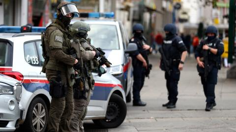 Policía en Viena. Austria