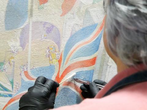Restauración de varias obras de la serie 'Visiones de Gran Canaria' de Néstor Martín-Fernández de la Torre