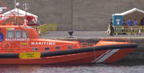 Salvamento Marítimo en el muelle de Arguineguín. Mogán / CanariasNoticias.es