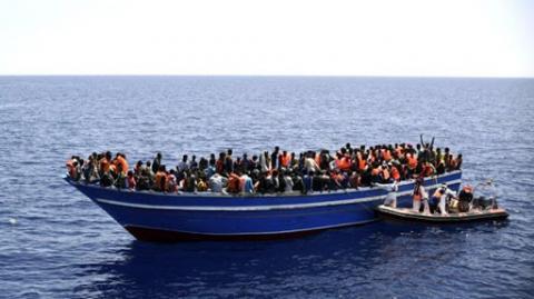 Inmigrantes en patera