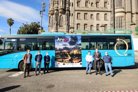 Campaña de promoción de Arucas en guaguas Global / CanariasNoticias.es