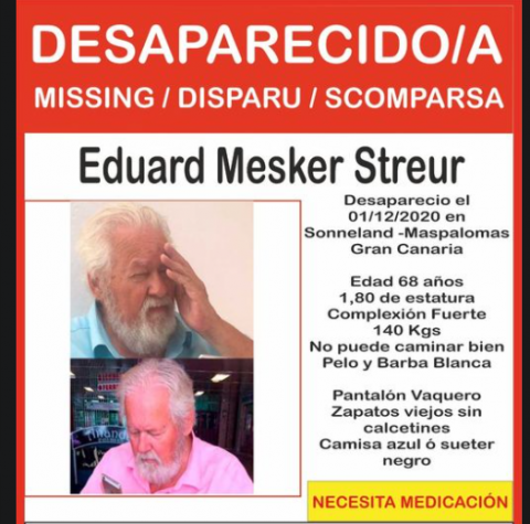 Persona desaparecida: Eduard Mesker / CanariasNoticias.es