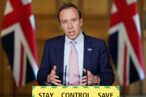 Matt Hancock, secretario de Sanidad de Reino Unido / CanariasNoticias.es