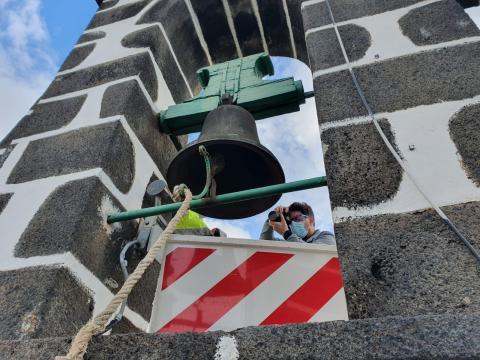 Espadaña de la iglesia de Nuestra Señora de Candelaria/CanariasNoticias.es