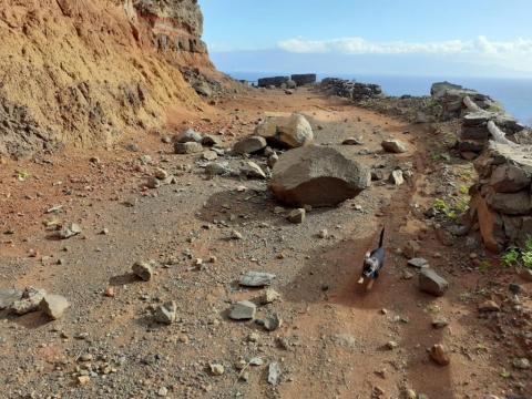 Desprendimientos en el acceso a Puntallana en La Gomera / CanariasNoticias.es