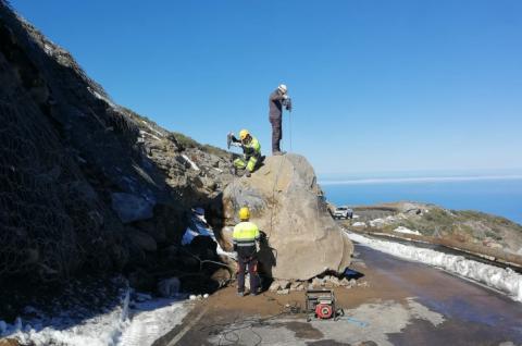 Derrumbe en la carretera del Roque de Los Muchachos (La Palma) / CanariasNoticias.es