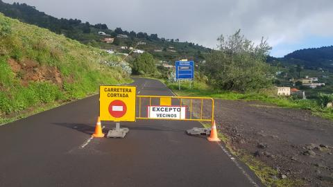 La Palma. Carreteras cerradas/ canariasnoticias.es